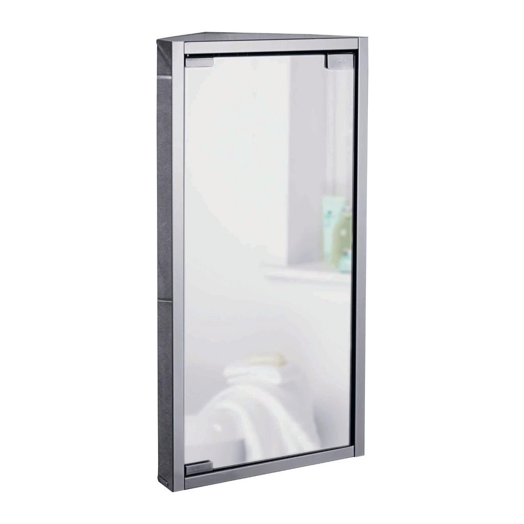 Stainless steel corner cabinet with mirror door