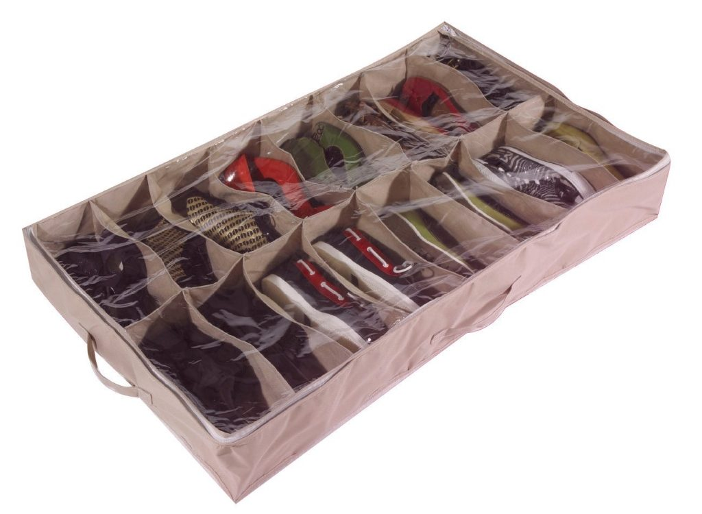 Extra large under bed shoe storage container