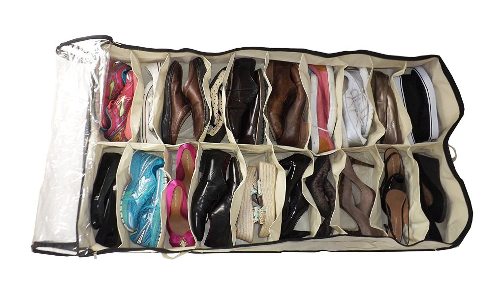 20 pair under bed shoe bag