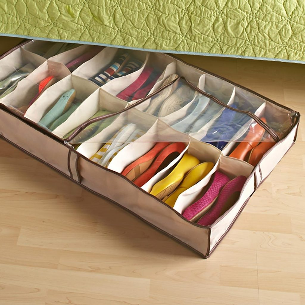 16 pair canvas shoe bag
