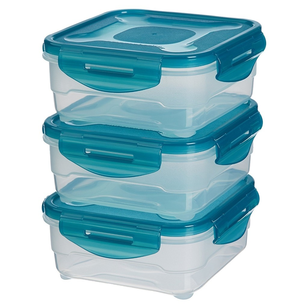 Set of 3 x 0.8 litre food containers