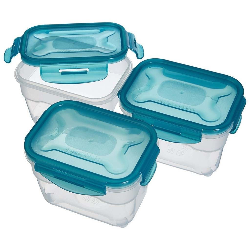 Set of 3 x 1 litre food containers