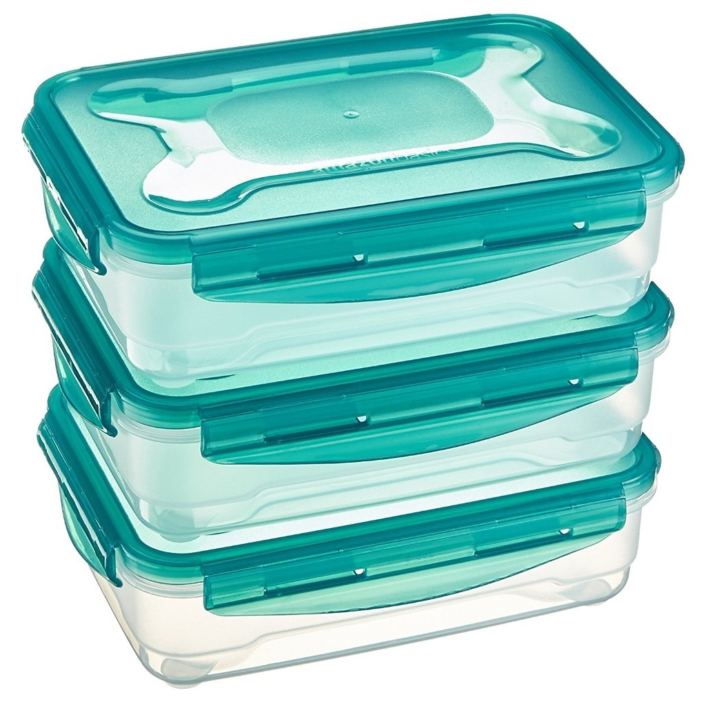 Set of 3 x 1.2 litre food containers