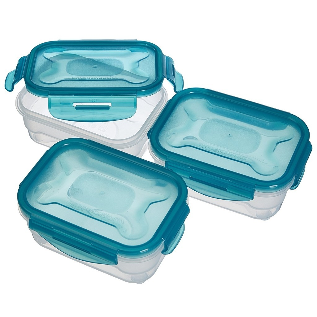 Set of 3 x 0.6 litre food containers