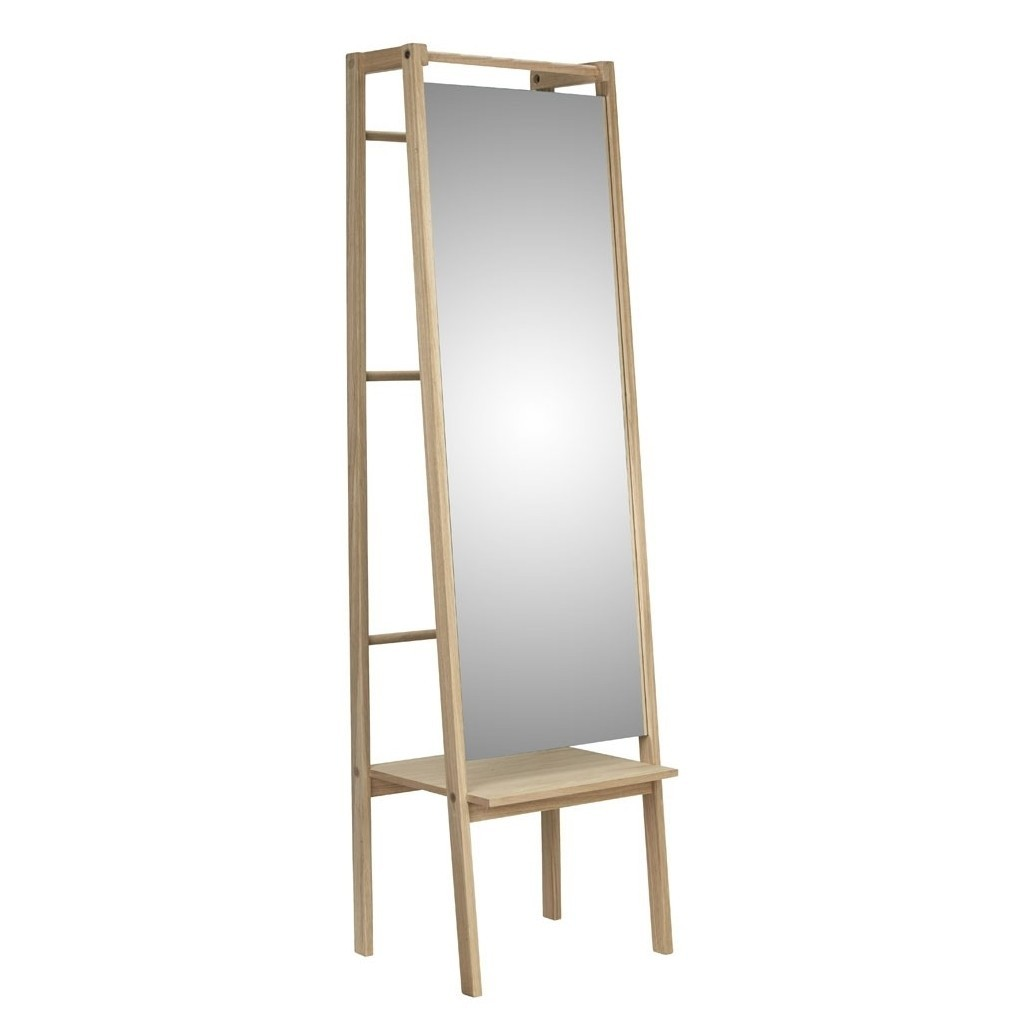 Combined mirror and clothes stand