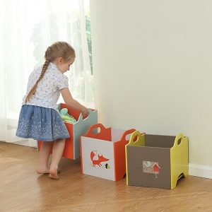 Children's stackable toy boxes