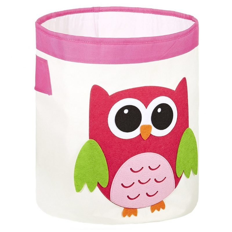 Storage hamper with owl motif