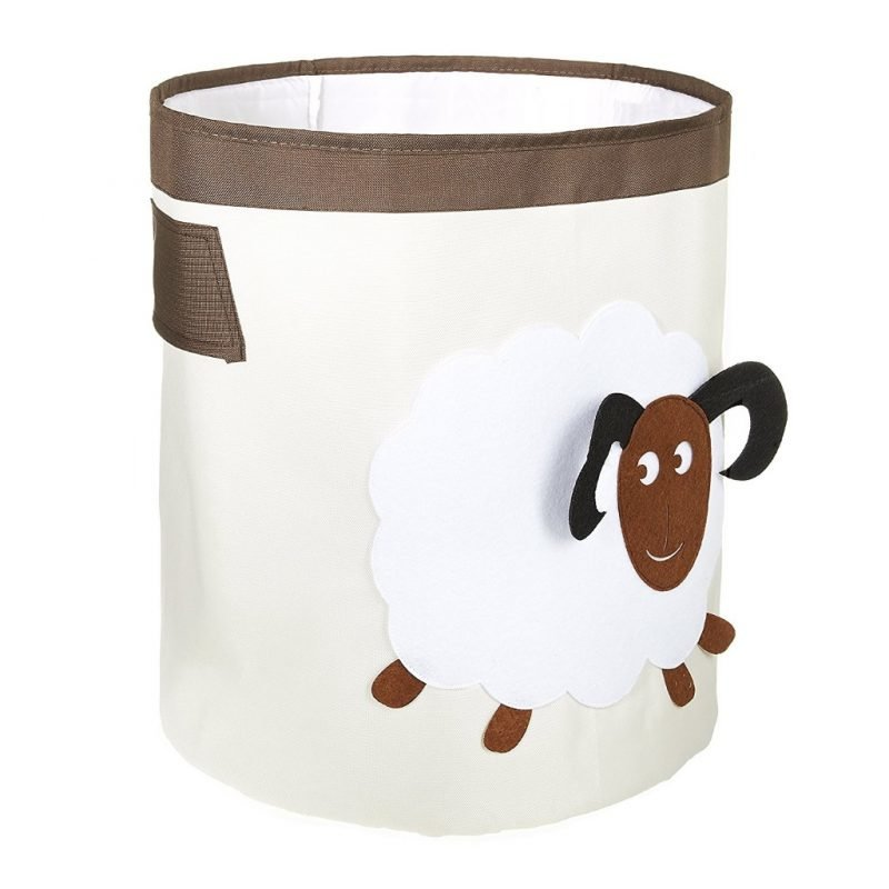 Storage hamper with sheep motif