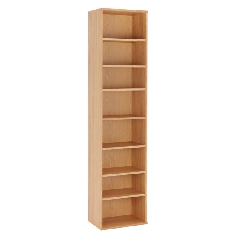 7 shelf oak bookcase