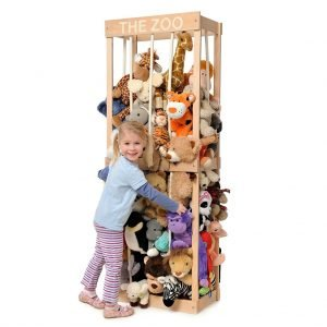 Wooden cage storage for soft toys