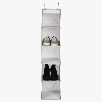 Fabric hanging shoe store