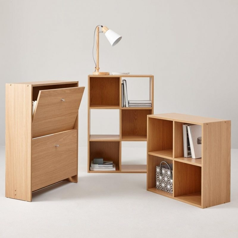 Cube storage units and shoe cabinet
