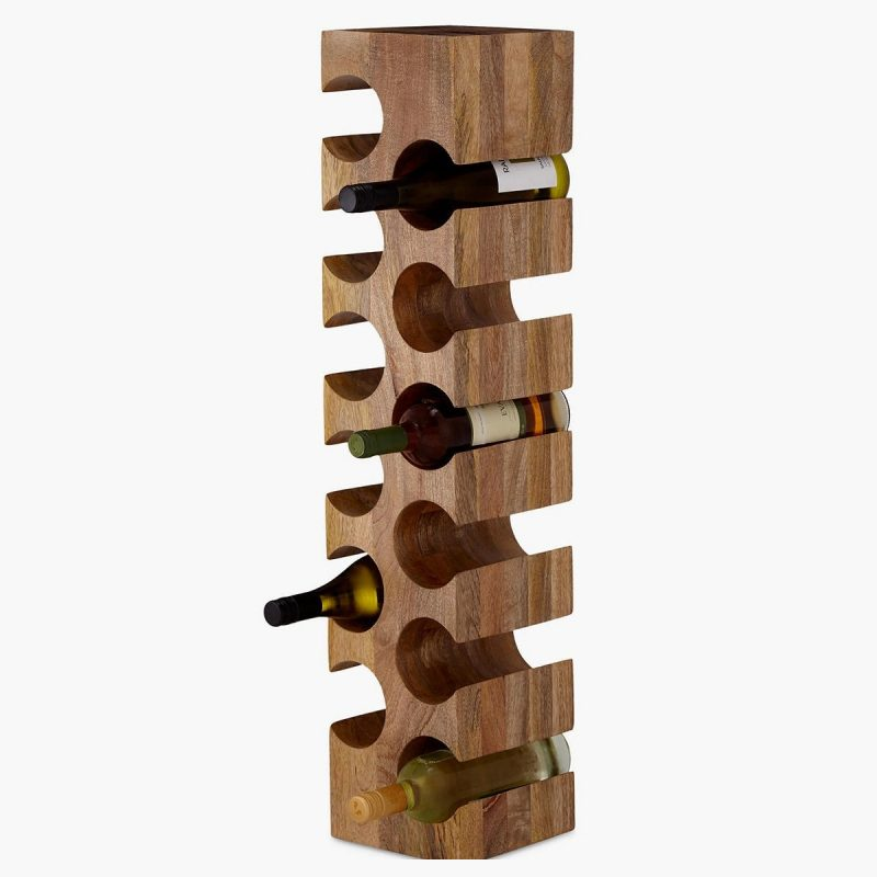 Vertical mango wine rack