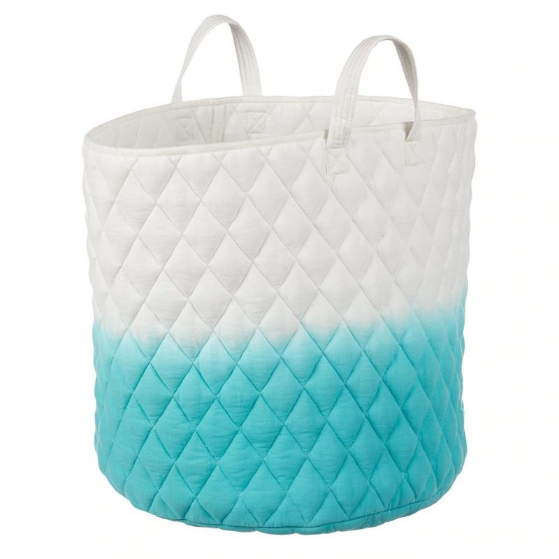 Quilted storage hamper