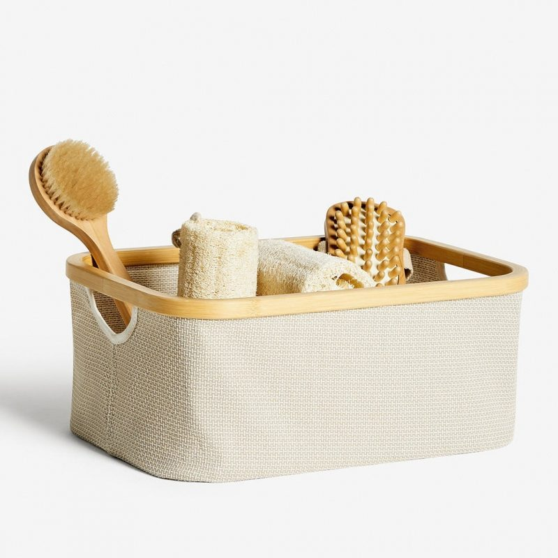 Small, rectangular storage basket