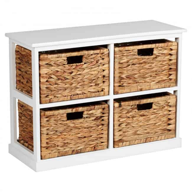 4-drawer storage unit