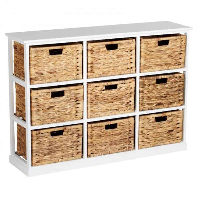 9-drawer storage unit