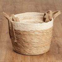 Set of 3 woven storage baskets