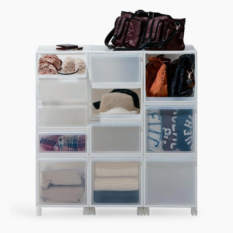Modular plastic storage drawers