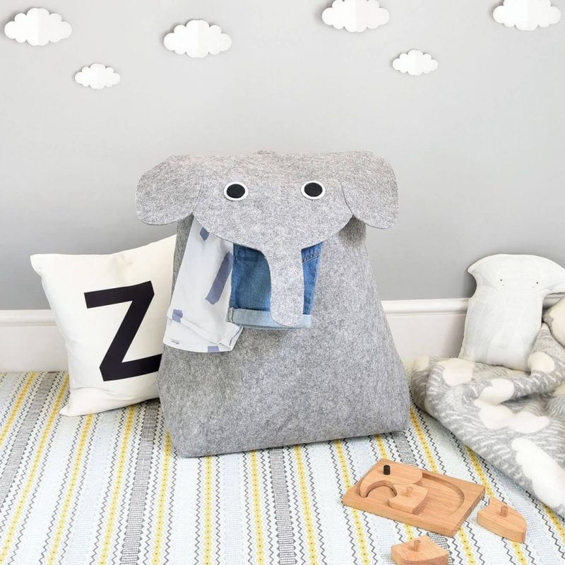 Cute elephant themed laundry hamper
