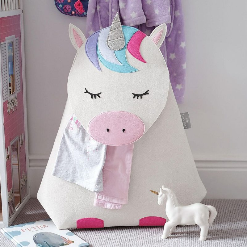 Unicorn theme laundry hamper