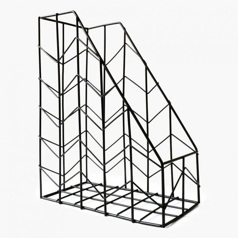Black wire magazine rack