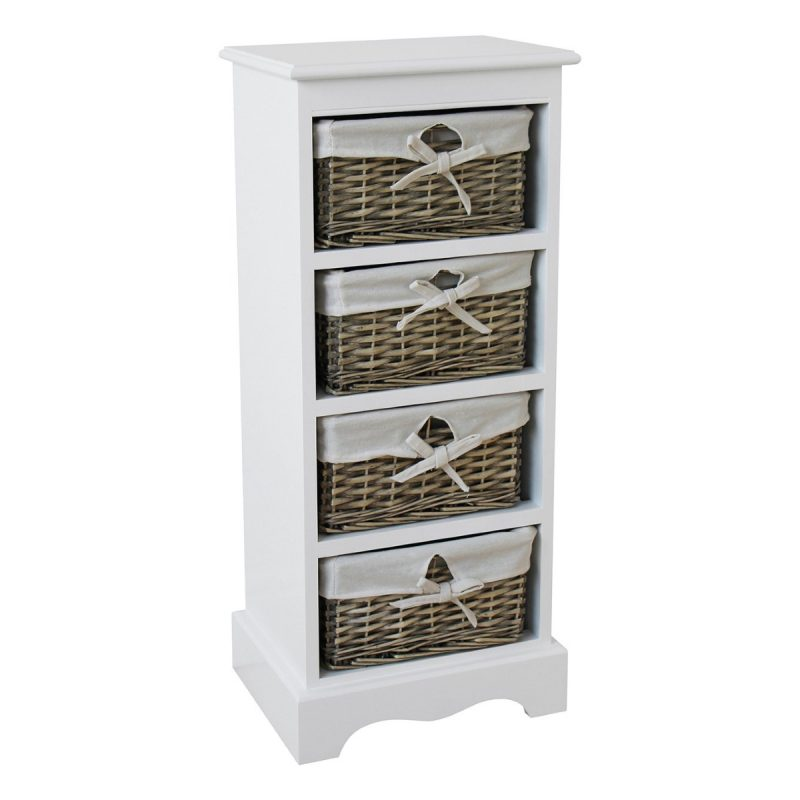 Vertical 4-drawer storage unit