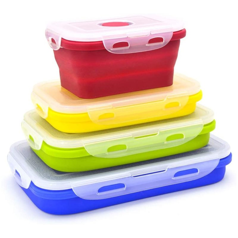 Set of collapsible food containers