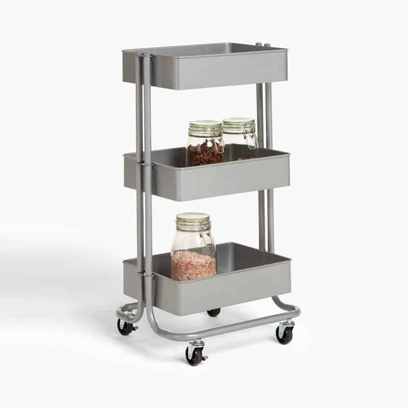 3-tier mobile kitchen trolley
