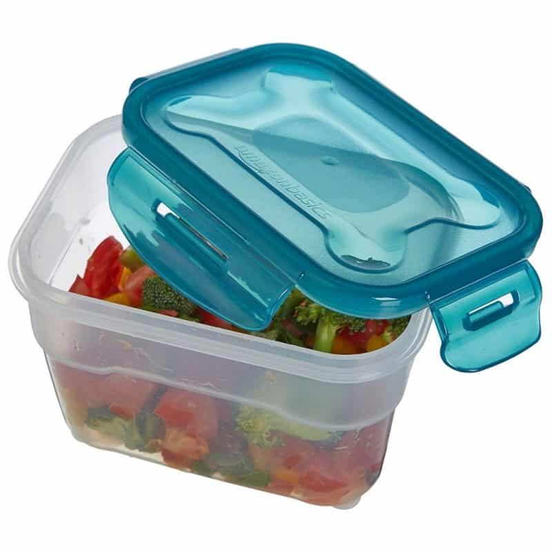 Food container with air-lock lid