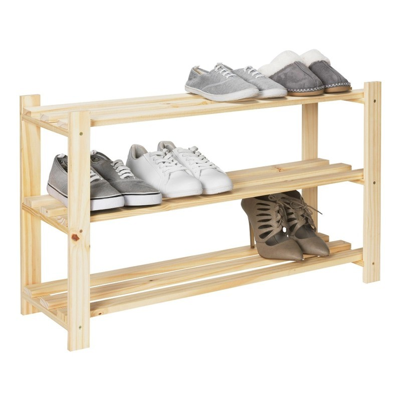 3 tier pine shoe rack