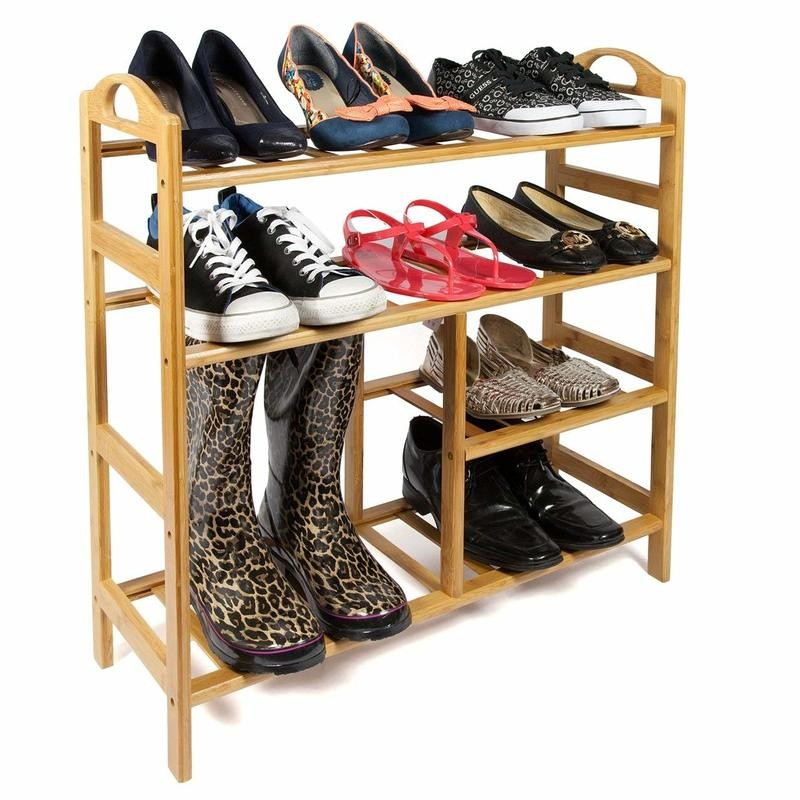 4 tier combined boot and shoe rack