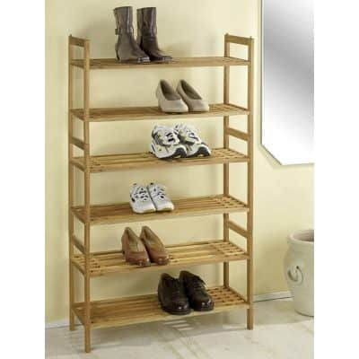 Walnut shoe racks - stackable
