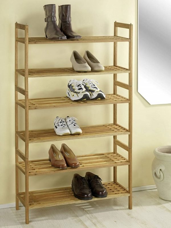 Stacked shoe racks