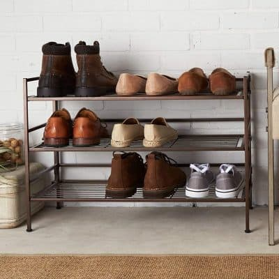 9 pair metal shoe racks