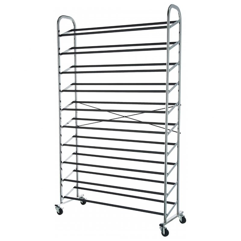 Metal 30 pair shoe rack