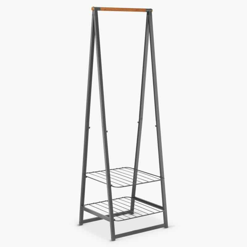 Grey-painted clothes rack