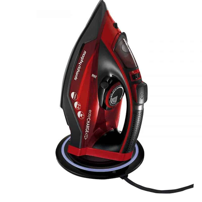 Cordless iron on its stand