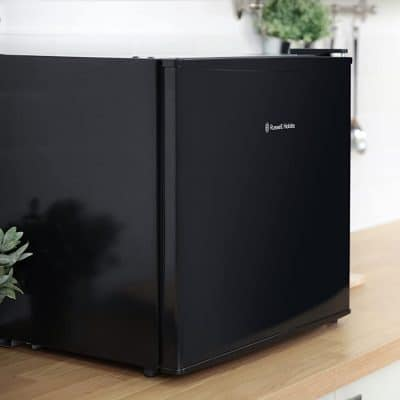 Small black fridge