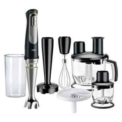 Hand-blender with multiple accessories