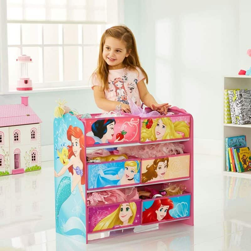 Disney Princess 6 bin storage