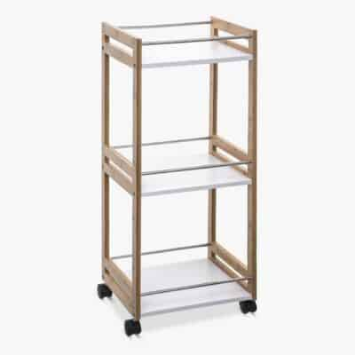 3-tier bamboo kitchen trolley