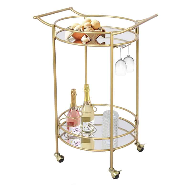 Gold coloured drinks trolley