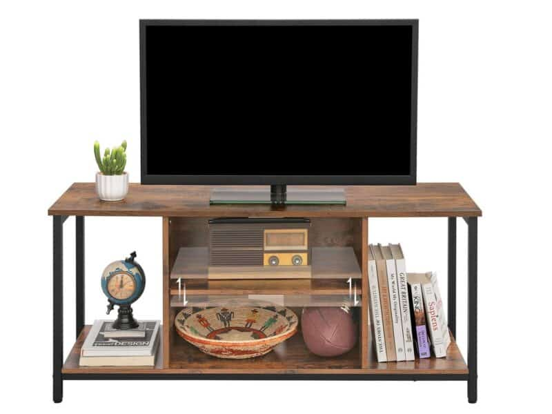Rustic, industrial TV stand