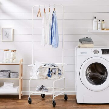 All in one laundry storage