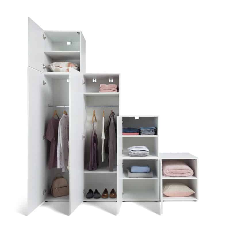 4-section stepped wardrobe