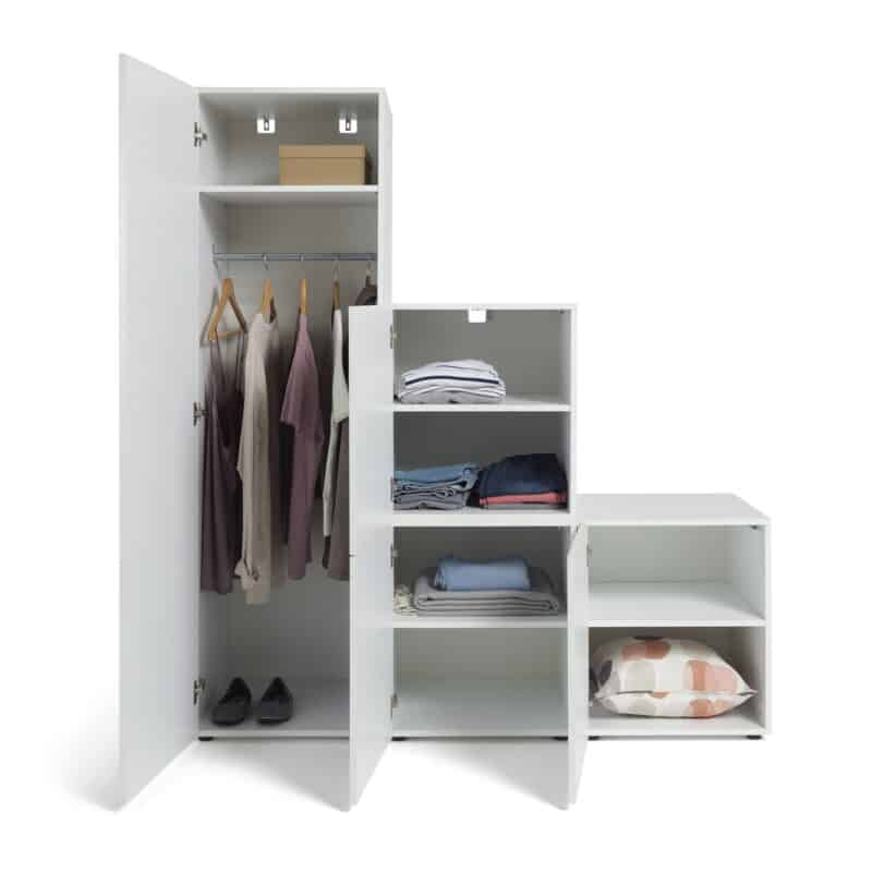 3-section stepped wardrobe